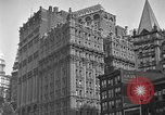 Image of window cleaner New York City USA, 1945, second 33 stock footage video 65675072164