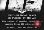 Image of mid-air refueling San Diego California USA, 1923, second 3 stock footage video 65675072184