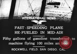 Image of mid-air refueling San Diego California USA, 1923, second 5 stock footage video 65675072184