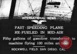 Image of mid-air refueling San Diego California USA, 1923, second 8 stock footage video 65675072184