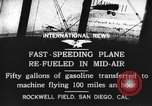 Image of mid-air refueling San Diego California USA, 1923, second 11 stock footage video 65675072184
