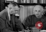 Image of Albert Einstein peaceful use of atomic power Princeton New Jersey USA, 1946, second 56 stock footage video 65675072233