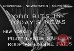 Image of landing on roof New York United States USA, 1933, second 11 stock footage video 65675072248