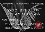 Image of landing on roof New York United States USA, 1933, second 12 stock footage video 65675072248