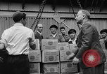 Image of Surplus food distributed for starving East Germans Germany, 1951, second 18 stock footage video 65675072259