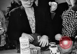 Image of Surplus food distributed for starving East Germans Germany, 1951, second 37 stock footage video 65675072259