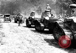 Image of U.S. Infantry and French FT-17 tanks advancing in World War 1 Western Front, 1918, second 6 stock footage video 65675072379