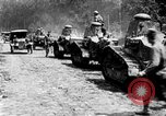 Image of U.S. Infantry and French FT-17 tanks advancing in World War 1 Western Front, 1918, second 8 stock footage video 65675072379