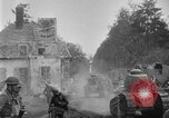 Image of U.S. Infantry and French FT-17 tanks advancing in World War 1 Western Front, 1918, second 25 stock footage video 65675072379