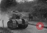 Image of U.S. Infantry and French FT-17 tanks advancing in World War 1 Western Front, 1918, second 29 stock footage video 65675072379