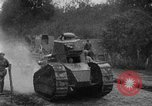 Image of U.S. Infantry and French FT-17 tanks advancing in World War 1 Western Front, 1918, second 30 stock footage video 65675072379