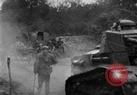 Image of U.S. Infantry and French FT-17 tanks advancing in World War 1 Western Front, 1918, second 33 stock footage video 65675072379