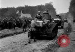 Image of U.S. Infantry and French FT-17 tanks advancing in World War 1 Western Front, 1918, second 37 stock footage video 65675072379