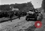 Image of U.S. Infantry and French FT-17 tanks advancing in World War 1 Western Front, 1918, second 40 stock footage video 65675072379
