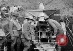 Image of United States Army artillery firing 155mm howitzers Western Front, 1917, second 7 stock footage video 65675072381