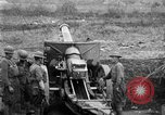 Image of United States Army artillery firing 155mm howitzers Western Front, 1917, second 14 stock footage video 65675072381