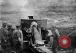 Image of United States Army artillery firing 155mm howitzers Western Front, 1917, second 15 stock footage video 65675072381