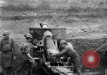 Image of United States Army artillery firing 155mm howitzers Western Front, 1917, second 16 stock footage video 65675072381