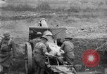 Image of United States Army artillery firing 155mm howitzers Western Front, 1917, second 17 stock footage video 65675072381