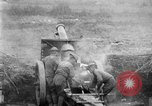 Image of United States Army artillery firing 155mm howitzers Western Front, 1917, second 19 stock footage video 65675072381