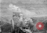 Image of United States Army artillery firing 155mm howitzers Western Front, 1917, second 20 stock footage video 65675072381