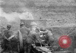 Image of United States Army artillery firing 155mm howitzers Western Front, 1917, second 21 stock footage video 65675072381