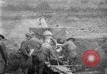 Image of United States Army artillery firing 155mm howitzers Western Front, 1917, second 22 stock footage video 65675072381