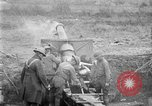 Image of United States Army artillery firing 155mm howitzers Western Front, 1917, second 23 stock footage video 65675072381