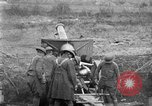 Image of United States Army artillery firing 155mm howitzers Western Front, 1917, second 24 stock footage video 65675072381