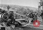 Image of United States Army artillery firing 155mm howitzers Western Front, 1917, second 28 stock footage video 65675072381