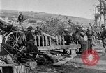 Image of United States Army artillery firing 155mm howitzers Western Front, 1917, second 29 stock footage video 65675072381