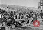 Image of United States Army artillery firing 155mm howitzers Western Front, 1917, second 30 stock footage video 65675072381