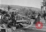 Image of United States Army artillery firing 155mm howitzers Western Front, 1917, second 32 stock footage video 65675072381