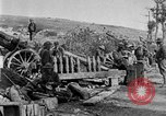 Image of United States Army artillery firing 155mm howitzers Western Front, 1917, second 34 stock footage video 65675072381