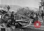 Image of United States Army artillery firing 155mm howitzers Western Front, 1917, second 35 stock footage video 65675072381