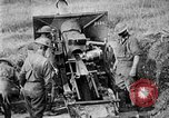 Image of United States Army artillery firing 155mm howitzers Western Front, 1917, second 38 stock footage video 65675072381
