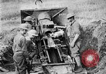Image of United States Army artillery firing 155mm howitzers Western Front, 1917, second 39 stock footage video 65675072381