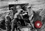 Image of United States Army artillery firing 155mm howitzers Western Front, 1917, second 40 stock footage video 65675072381