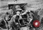 Image of United States Army artillery firing 155mm howitzers Western Front, 1917, second 41 stock footage video 65675072381