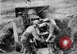 Image of United States Army artillery firing 155mm howitzers Western Front, 1917, second 42 stock footage video 65675072381