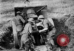 Image of United States Army artillery firing 155mm howitzers Western Front, 1917, second 43 stock footage video 65675072381