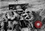 Image of United States Army artillery firing 155mm howitzers Western Front, 1917, second 44 stock footage video 65675072381
