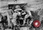 Image of United States Army artillery firing 155mm howitzers Western Front, 1917, second 45 stock footage video 65675072381