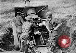 Image of United States Army artillery firing 155mm howitzers Western Front, 1917, second 46 stock footage video 65675072381
