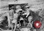 Image of United States Army artillery firing 155mm howitzers Western Front, 1917, second 48 stock footage video 65675072381