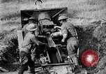 Image of United States Army artillery firing 155mm howitzers Western Front, 1917, second 49 stock footage video 65675072381