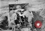 Image of United States Army artillery firing 155mm howitzers Western Front, 1917, second 50 stock footage video 65675072381