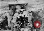 Image of United States Army artillery firing 155mm howitzers Western Front, 1917, second 51 stock footage video 65675072381