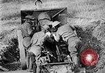 Image of United States Army artillery firing 155mm howitzers Western Front, 1917, second 52 stock footage video 65675072381
