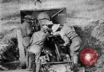 Image of United States Army artillery firing 155mm howitzers Western Front, 1917, second 53 stock footage video 65675072381